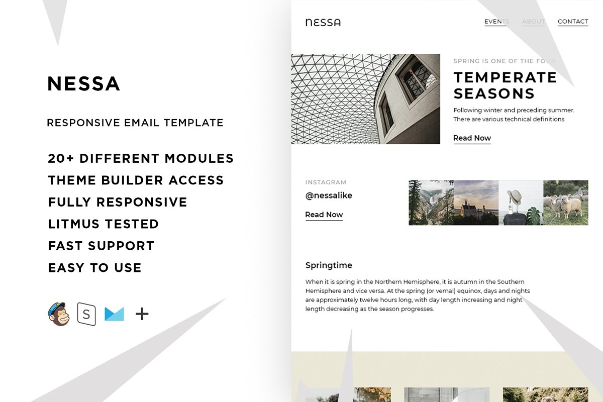 Nessa – Responsive Email template
