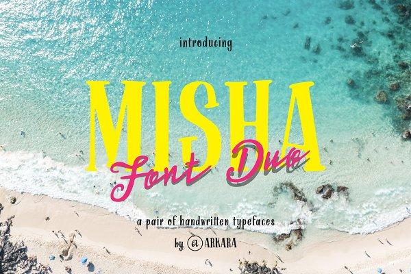 ARK Misha - Handwritten Font Duo