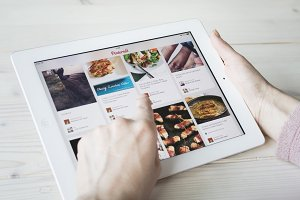 using pinterest on tablet pc