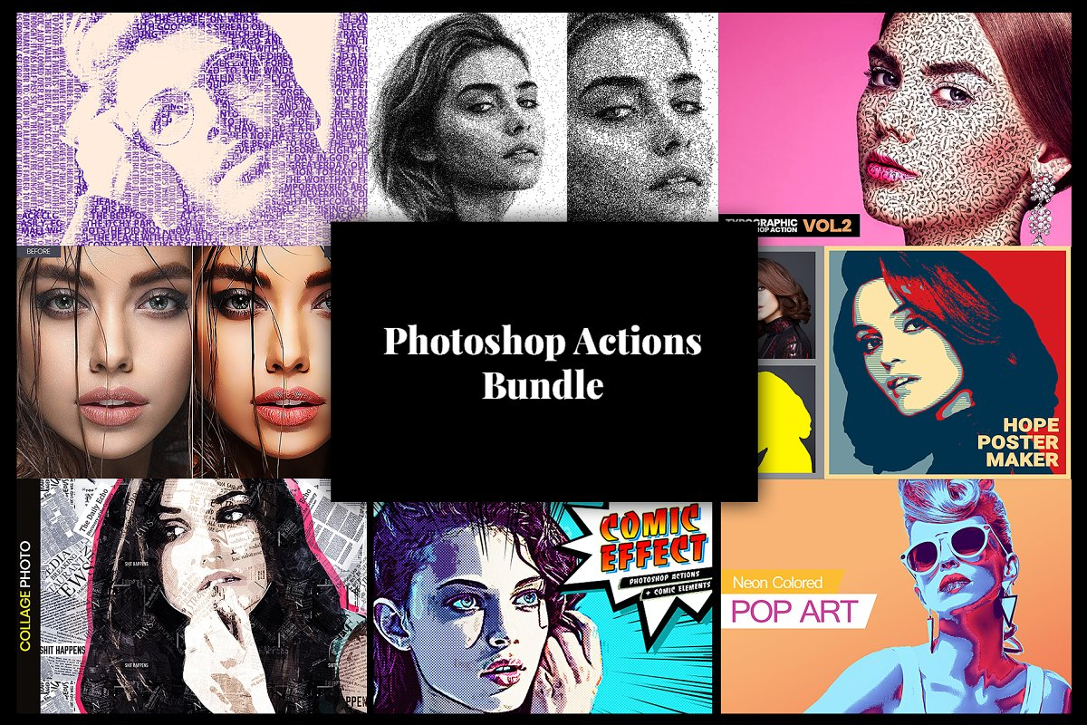 Photoshop Actions Bundle 8/1