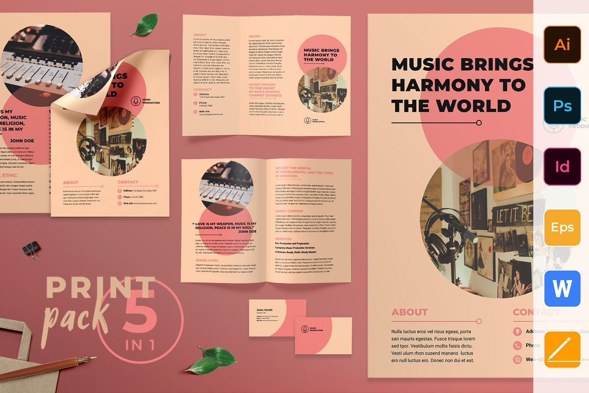 Music Production Print Pack
