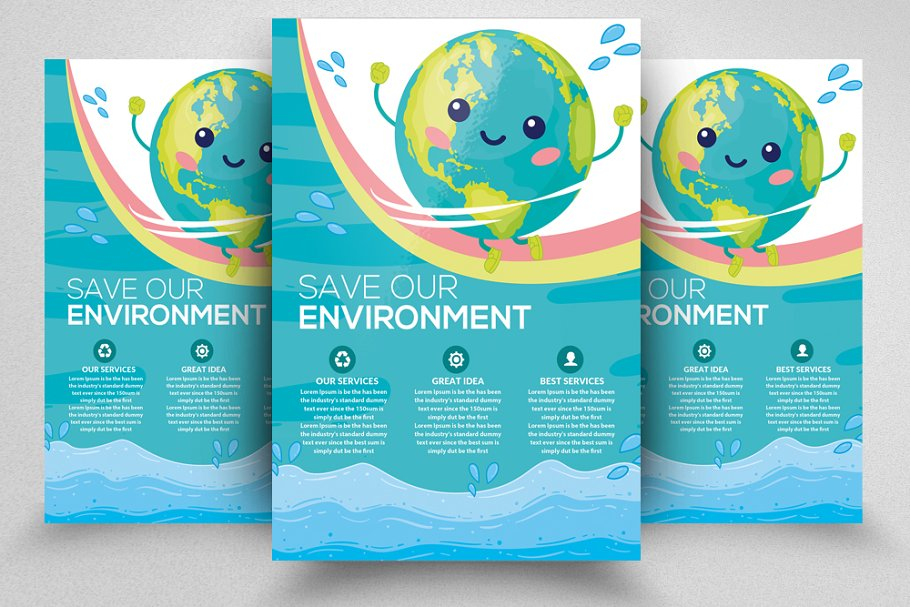 Save Our Environment Flyer Template