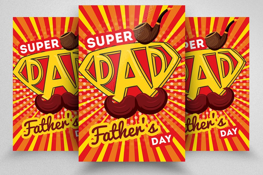 Supper Father Day Flyer Templates