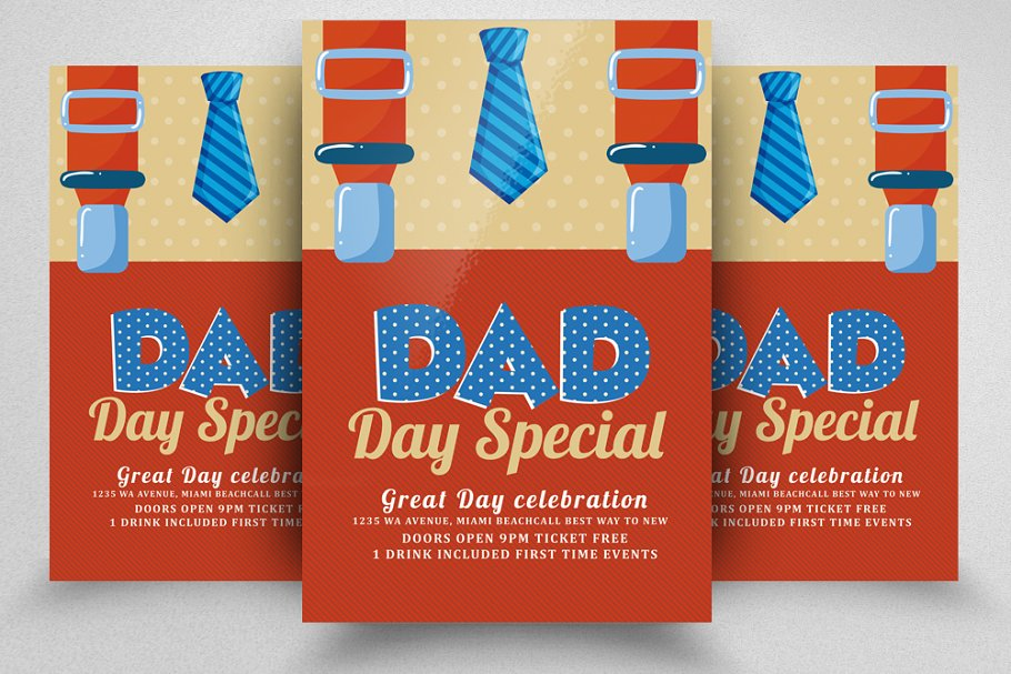 Happy Dad's Day Poster Templates