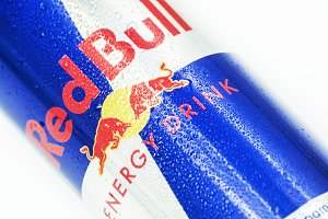Red bull soda can