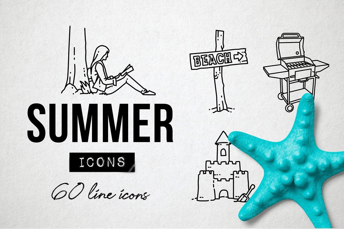 60 Summer Icons, Park, Beach Holiday
