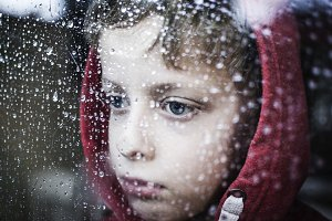 troubled little boy