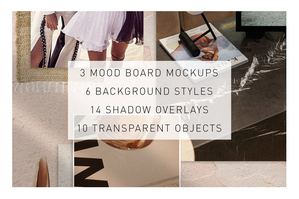 Realistic Mood Board Mockups in Branding Mockups - product preview 1