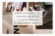 Realistic Mood Board Mockups
