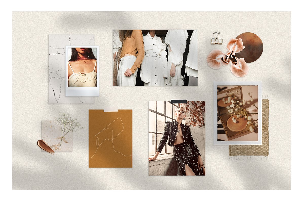 Realistic Mood Board Mockups in Branding Mockups - product preview 2