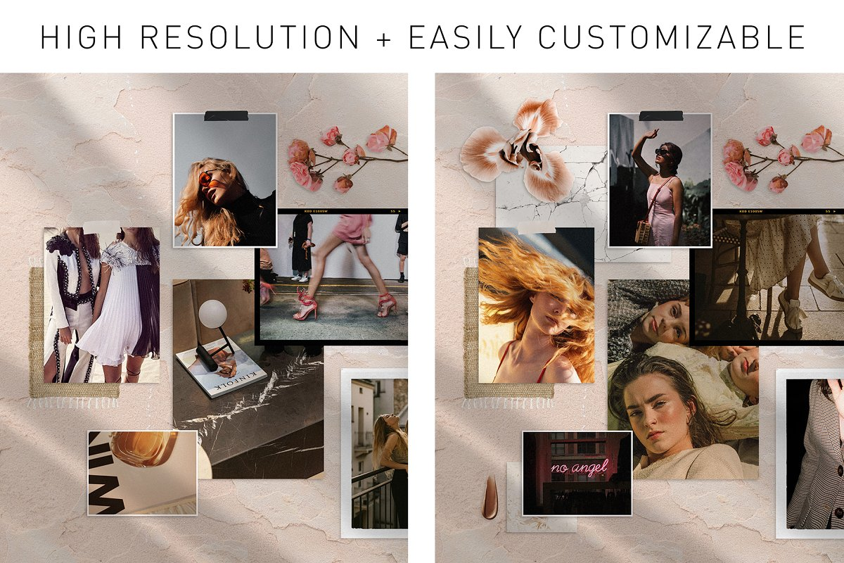 Realistic Mood Board Mockups in Branding Mockups - product preview 6