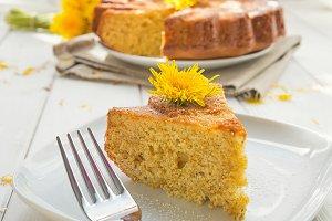 Dandelion's flowers cake