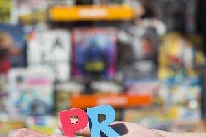 Wooden letters PR