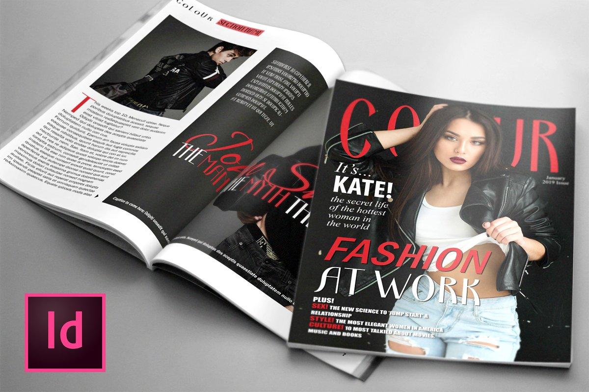 COLOUR, Fashion Magazine Template