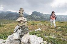 Stacked stones, mountain