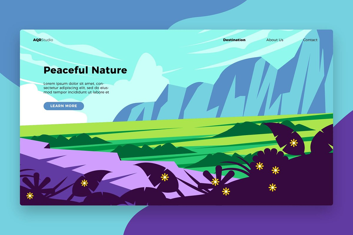 Peaceful Nature -Banner&Landing Page