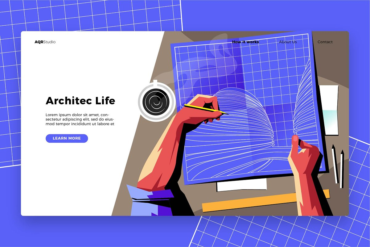 Architect Life - Banner&Landing Page