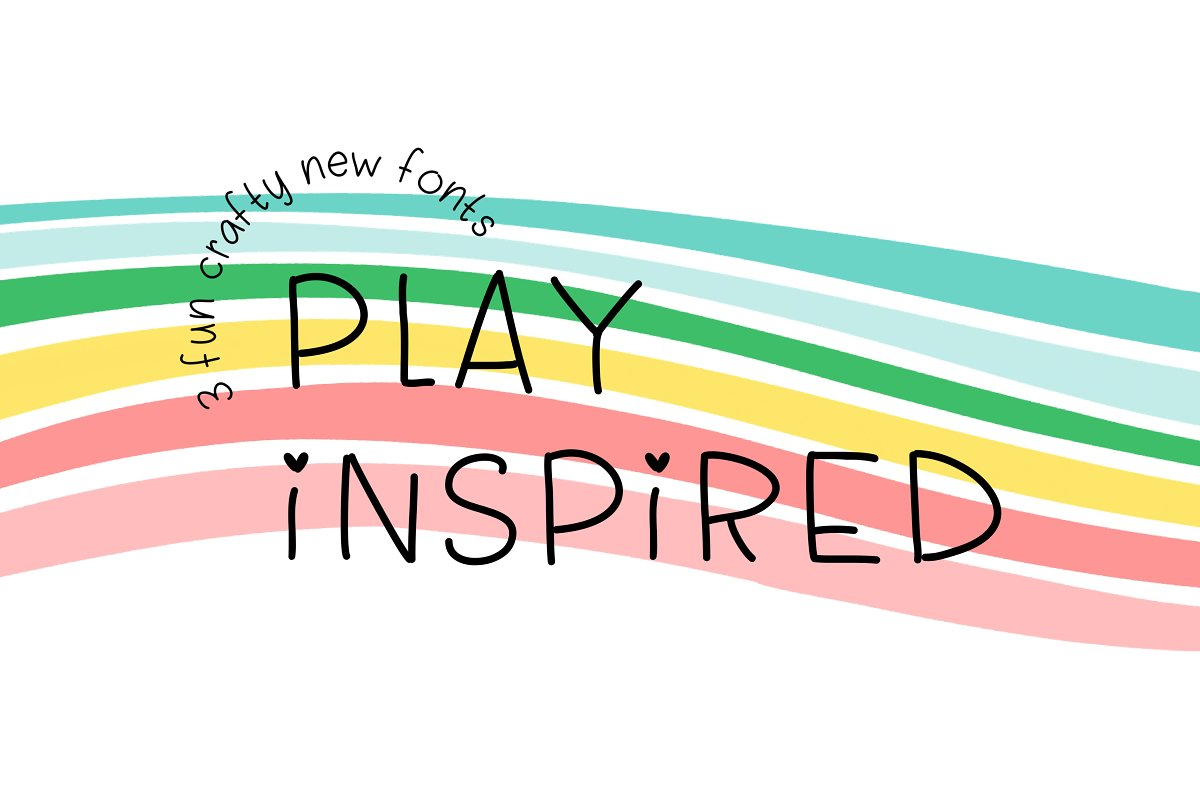 Play Inspired Fonts & Backgrounds in Script Fonts