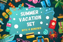 Summer Vacation Icons Box + Bonuses