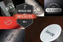7 Unique Metallic Logo Mockups Vol.1