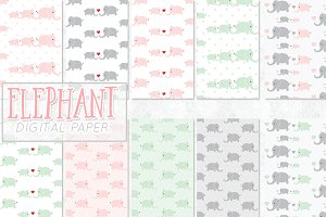 elephant digital paper