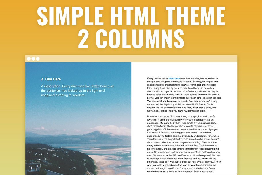 Fifty Fifty - Simple HTML Template