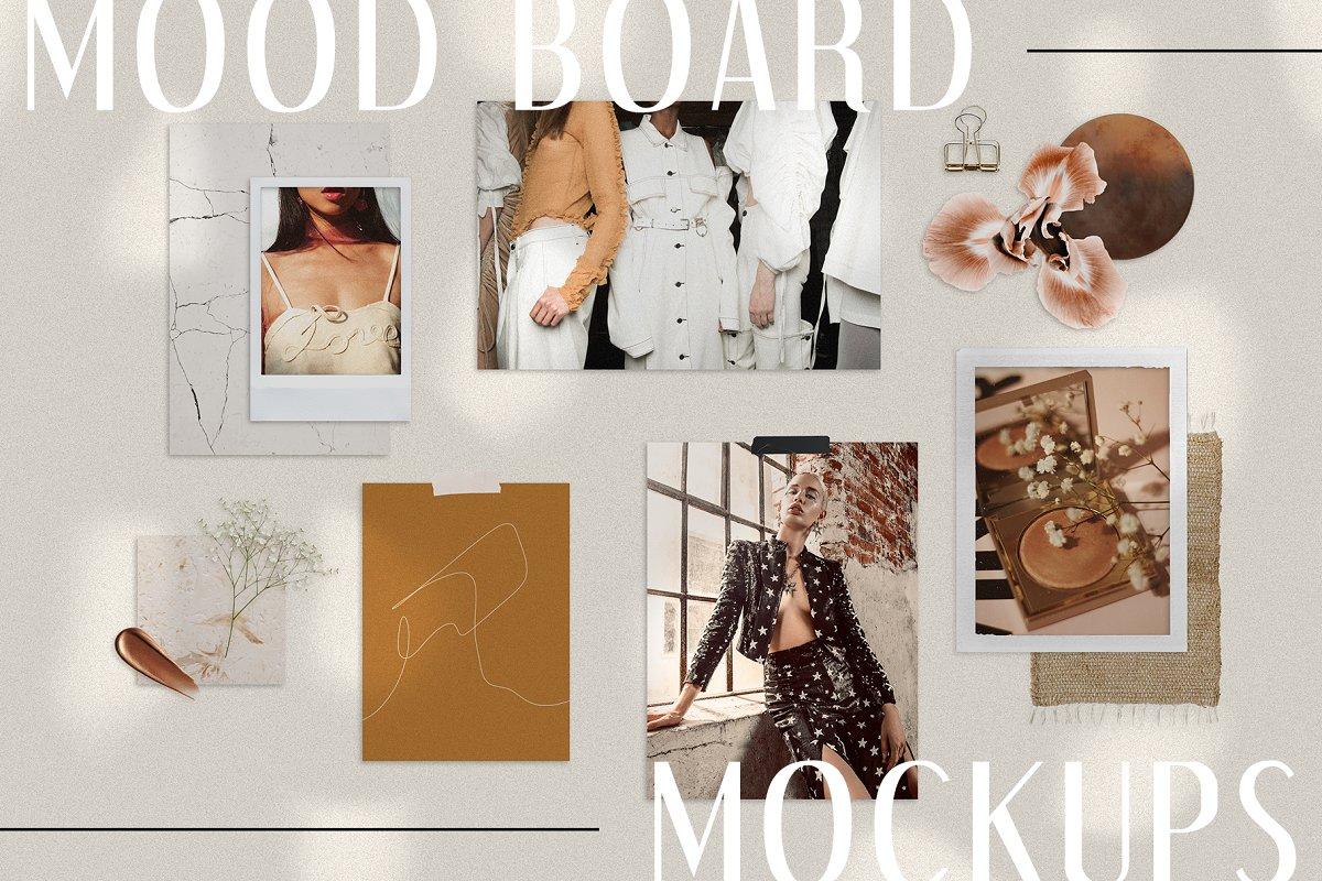 Realistic Mood Board Mockups in Branding Mockups