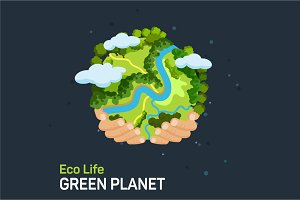 Save our planet, vector