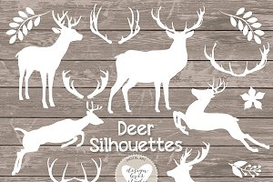 Vector Rustic deer clipart