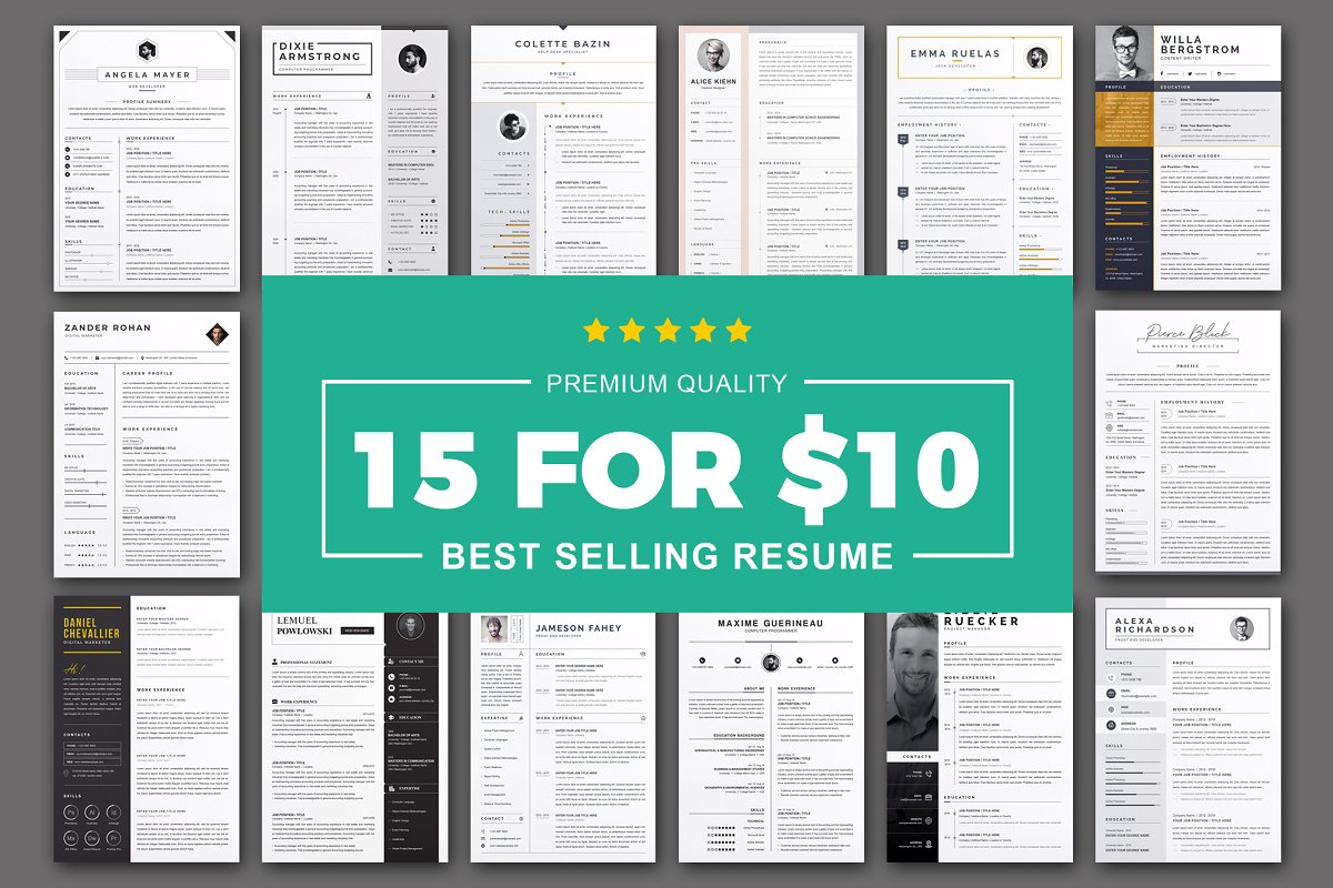 RESUME/CV TEMPLATE | PREMIUM BUNDLE Free Download
