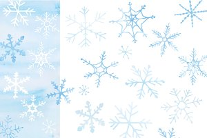 Snowflakes - hand drawn vector