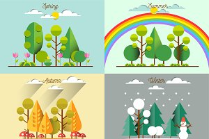 Landscapes at different seasons