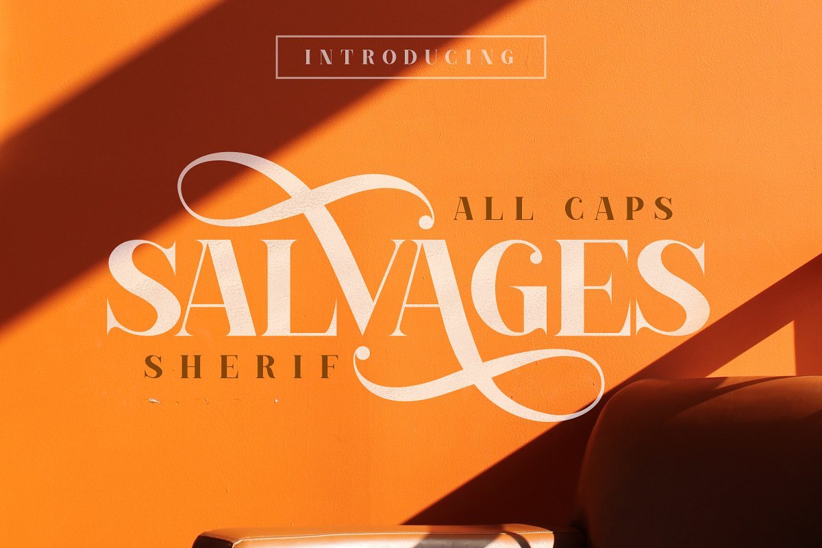 SALVAGES BOLD | SHERIF FONT