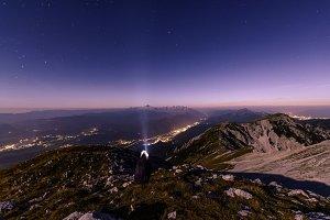 Beautiful starry night landscape