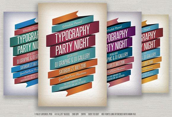 Typography Flyer Flyer Templates on Creative Market – Typography Flyer