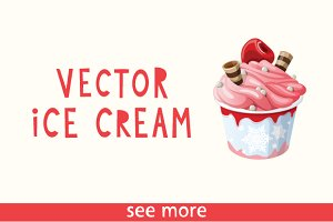 25 Colorful Vector Ice Creams