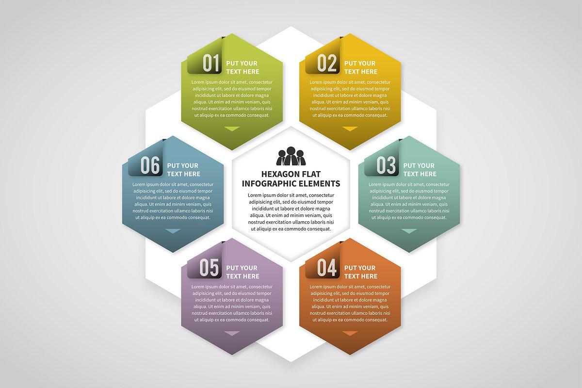 Hexagon Infographic in Web Elements
