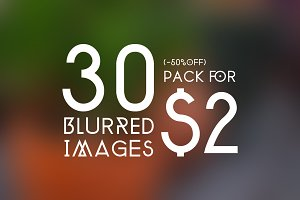 30 Blurred Images SALE Pack