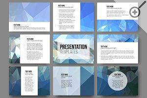 Set of 45 templates for slides