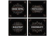 Vintage labels templates