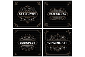 Vintage labels templates