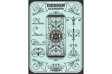 Vintage Ornaments Decorations Design