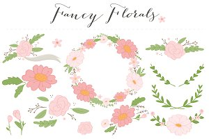 Fancy Flowers Clip Art PNG