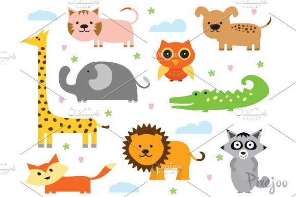 Animal Cliparts In Eps And Png Illustrations Creative
