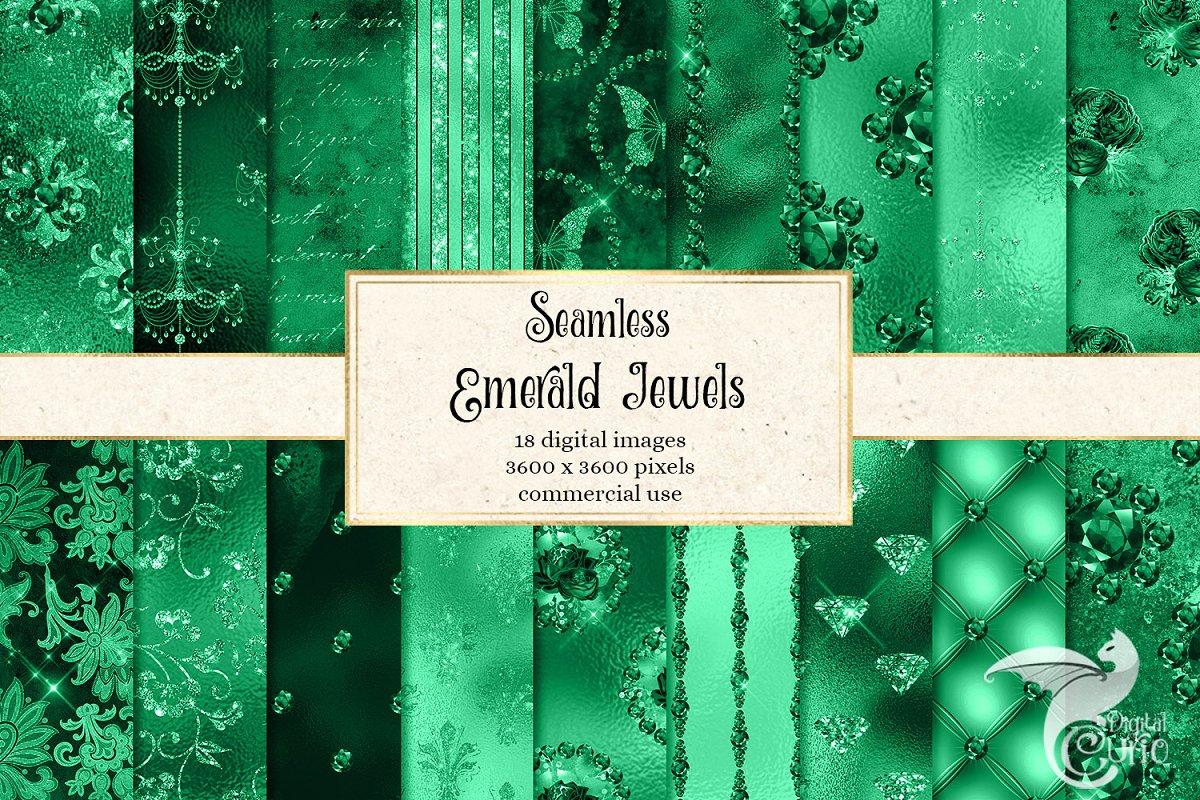 Emerald Jewels Digital Paper in Textures