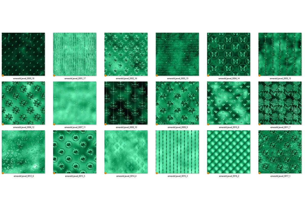 Emerald Jewels Digital Paper in Textures - product preview 3