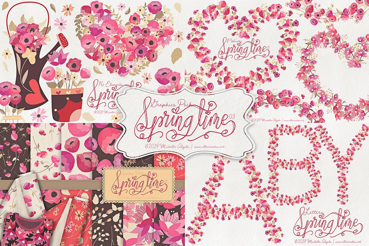 Springtime 03 - Graphics Pack in Illustrations - product preview 8