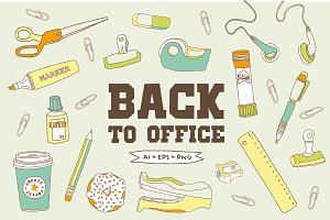 Back to Office Hand Drawn Clipart