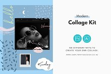 Modern Collage Kit by  in Objects