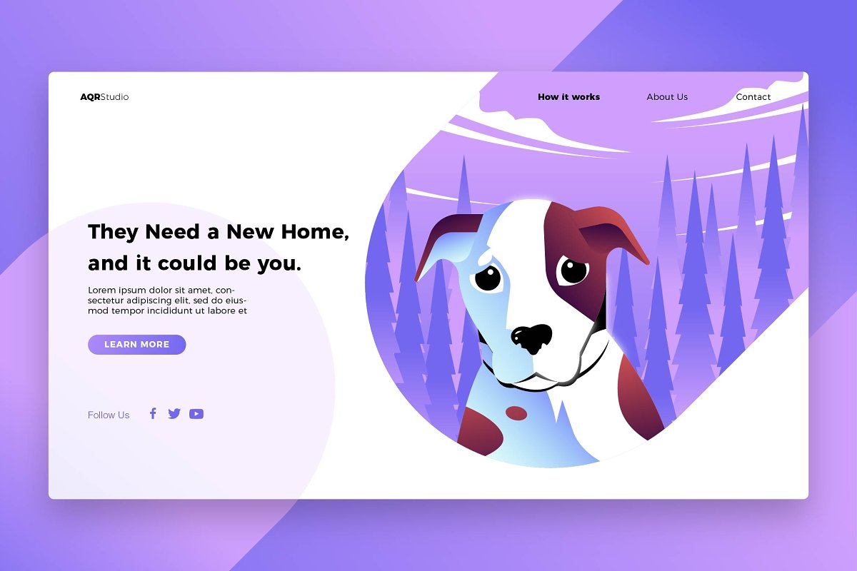 New Home - Banner & Landing Page
